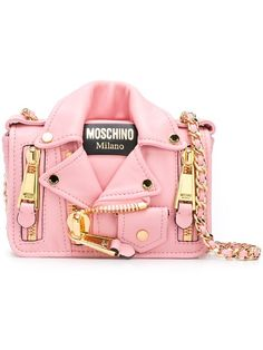 MOSCHINO Biker Crossbody Bag. #moschino #bags #shoulder bags #leather #crossbody #