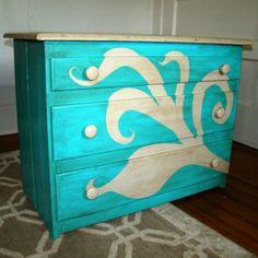painted dresser by Oli-Pop