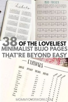 Want a MINIMALIST BULLET JOURNAL layout for inspiration? If your goal is to do more with less, then check out these stunning ideas. You'll find all … - All About Bullet Journal Log, Bullet Journal How To Start A, Bullet Journal Spread, Bullet Journals, Daily Journal, Journal Pages, Journal Ideas, Dream Journal, Journal Prompts