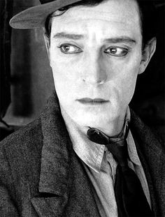 Buster Keaton, 1920s, perhaps the greatest face of all  via clickclax