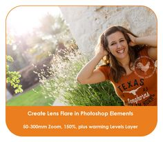 Create beautiful lens flare in Photoshop or Photoshop Elements.