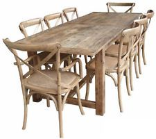 RUSTIC 2.4 m OAK DINING TABLE. FARMHOUSE STYLE. NEW IN!! PROVINCIAL FRENCH.