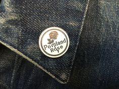 Vintage Portland Rose Hat Lapel Pin - Tie Tack by ElkHugsVintage on Etsy