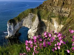 Picture of the Great Arch at White Rocks on the north Antrim Coast, Northern Ireland