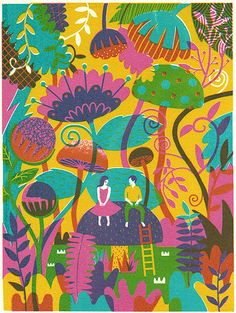 Boyoun Kim uses silkscreen to make illustrations Art And Illustration, Inspiration Artistique, Graffiti, You Draw, Arte Floral, Art Design, Art Inspo, Printmaking, Print Patterns