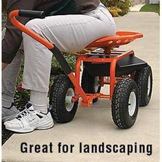 ... Garden Scoot Lets You Sit Comfortably Instead Of Kneeling Or Bending  Over To Weed, Harvest, Plant Etc. This Features An Adjustable Swivel Tractor  Seat ...