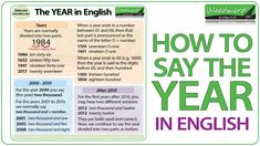 How to say the YEAR in English #ESL #ELL #Inglés