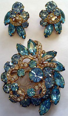BEAUTIFUL EISENBERG ICE SET - PIN & EARRINGS - QUICK SHIPPING!!