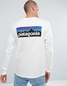 3dfc36af9643d Patagonia Long Sleeve Top With P-6 Back Logo Print in White. Patagonia Long  SleeveLacosteLong Sleeve TopsAdidas OriginalsWhite ...