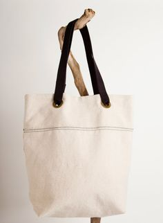 l a u r e n . Recycled and Upcycled Canvas Tote by EMEREY on Etsy, $48.00