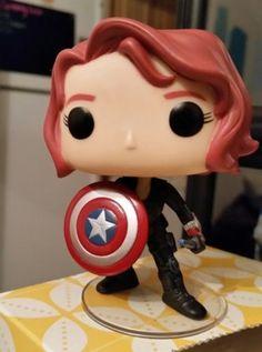 Black Widow with Cap's shield