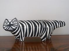 Black and white cat figure by Bitossi for Raymor, c. 1950s. SOLD