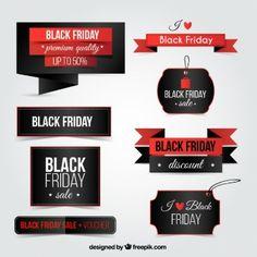 Coleção de sextas-feiras negras emblemas