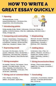 Academic Essay Writing, English Writing Skills, Essay Writing Tips, Writing Words, Teaching Writing, Writing Help, Teaching Literature, Dissertation Writing, Essay Writer