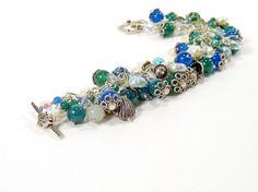 Charm Bracelet Sea Themed Jewelry Statement Bracelet by bluetina, €250.00
