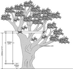 plans and dimensions amd measurements of a rope swing Backyard Swings, Backyard For Kids, Garden Swings, Tire Swings, Patio Decks, Diy Swing, Rope Swing, Hanging Swing Chair, Hanging Beds