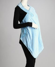 Blue Plush Nursing Blanket by Stephan Baby on #zulily
