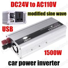 Hot sale Modified Sine Wave car Converter Power Inverter 1500W 24V DC to 110V AC Boat With USB Port voltage transformer