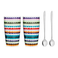 This beautiful pair of mugs with spoons from Swedish Design group Sagaform, is attractively packaged and makes a fabulous gift.