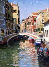 Venice in September by Roelof Rossouw Crazy Sister, Venice Canals, South African Artists, Visit France, Romantic Destinations, Oil Painters, Grand Canal, Urban Landscape, New Artists