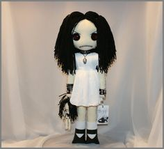 OOAK Hand Stitched Art Doll Creepy Gothic Folk Art by TatteredRags, $150.00