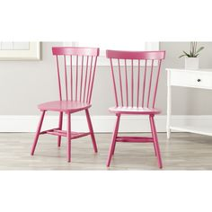 Safavieh Country Lifestyle Spindle Back Raspberry Dining Chair (Set of 2)   Overstock.com