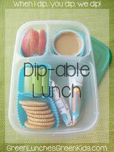 Dip-able lunch by Green Lunches, Greek Kids