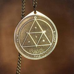 Goetia Third Pentacle of Mars Solomon kabbalah amulet pendant