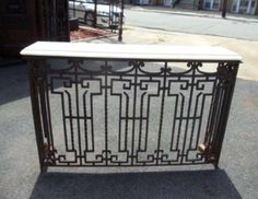 Wrought Iron Console | From a unique collection of antique and modern console tables at http://www.1stdibs.com/furniture/tables/console-tables/
