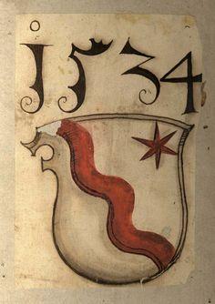 """Famille von Rotenhan (en 1534), originaire de Basse-Franconie (Allemagne) dont le membre le plus célèbre est Sebastian von Rotenhan, conseiller d'Albert de Brandebourg, archevêque de Mayence, puis de Konrad von Thüngen, évêque de Würzburg. Il fut l'auteur de la première édition du Chronicon de Regino de Prüm. il dessina le première carte de Franconie. -- """"D'argent à la bande ondée de gueules, accompagnée en chef à senestre d'une étoile du même""""."""