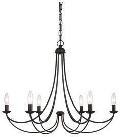 299 Quoizel MRN5006IB Mirren 6-Light Bronze Candelabra Ceiling Chandelier Lighting - QUO-MRN5006IB