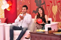 syra shehroz and shehroz sabzwari at subha saweray sama k sath
