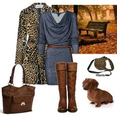 Alittle dogwalking, created by coppercurls on Polyvore