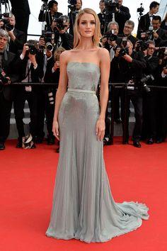 Cannes Film Festival 2014 Rosie Huntington-Whiteley in custom Gucci Premier at 2014 Cannes FF