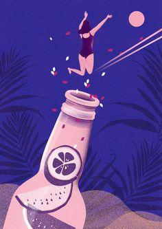 산그림 작가의 개인 갤러리 입니다. Quirky Illustration
