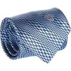 Versace Striped Check Tie