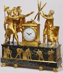 Mantel clock ('Oath of the Horatii') Gilt-bronze (figures and mounts), marble (base) Mantel Clocks, Old Clocks, Antique Clocks, Wall Clock Wooden, Clock Shop, Wall Clock Online, The Royal Collection, Wall Clock Design, Bronze