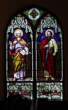 St Joseph Catholic, Roman Catholic, Stained Glass Art, Stained Glass Windows, St Peter And Paul, Central City, Art Projects, Saints, Kentucky