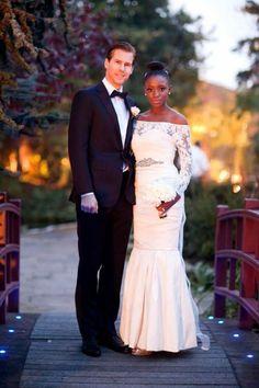 love those interracial couples #blackwomanwhiteguy   wedding #gorgeous