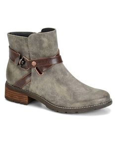 Another great find on #zulily! Gray & Coffee Tiana Boot #zulilyfinds