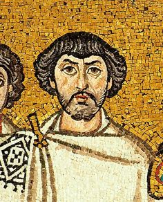 A man believed to be Belisarius depicted in a mosaic beside Justinian, Basilica of San Vitale, Ravenna, Italy Ancient Rome, Ancient Greece, Ancient Art, Conquistador, Byzantine Art, Byzantine Mosaics, Man Of War, Roman Emperor, Art History