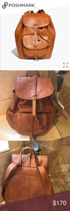 Madewell backpack Madewell backpack. I bought this for my mom and she says it doesn't fit on her shoulders. Perfect condition!! I already have one of my own or I would keep it. Madewell Bags Backpacks