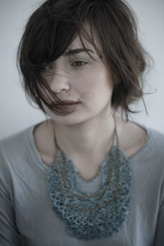 Crochet Collar Jabot in Verdigris Green by leninka on Etsy, $79.00