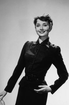 Audrey Hepburn lovely as always--this time in a suit