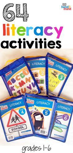 VersaTiles Literacy Take Along Pack, Grade 1 Spelling Activities, Reading Activities, Literacy Activities, Guided Reading, Literacy Stations, Literacy Skills, Literacy Centers, 5th Grade Books, Grade 1