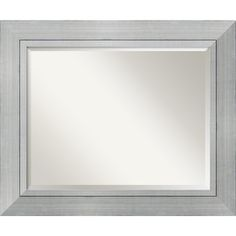 @Overstock - Make a small room look bigger and brighter with this large contemporary wall mirror. The pale-white frame highlights the mirror's modern styling, and you can hang the mirror horizontally or vertically to reflect light and make the room feel welcoming.http://www.overstock.com/Home-Garden/Romano-Wall-Mirror-Large/3942101/product.html?CID=214117 $154.99