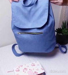 Denim Bag Patterns, Diy Bags Patterns, Sewing Patterns, Diy Bag Designs, Diy Bags Purses, Diy Handbag, Sewing Lessons, Fabric Bags, Sewing Basics