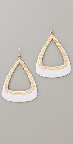 Adia Kibur Gold & Enamel Drop Earrings
