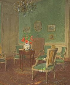 Leonce J. V. de Joncieres  Green Parlor  Late 19th - early 20th century