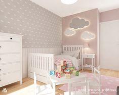 Mieszkanie Wilanów 110 m2 - Średni pokój dziecka dla dziewczynki dla malucha, styl skandynawski - zdjęcie od PURPLE PRACOWNIA